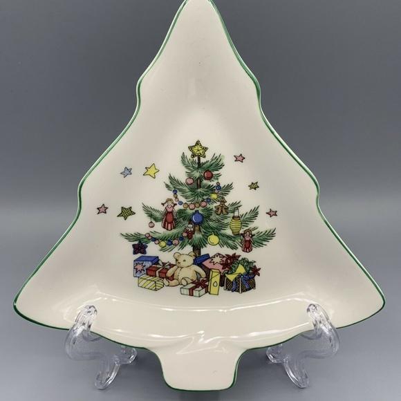 Nikco Other - Nikco Japan Porcelain Christmas Tree Trinket Tray